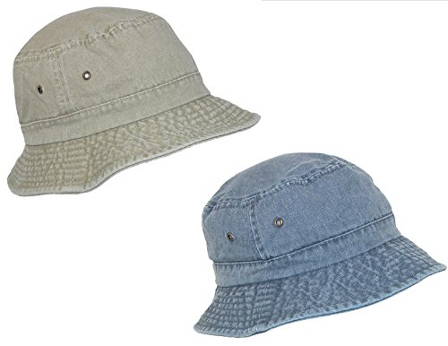 99acab827fd This cotton bucket hat fits comfortably and looks great on both men and  women. This 2 pack one color and one stone color for an exceptional value.