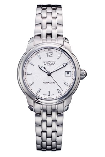 Davosa Ladies Automatic Watch with Silver Dial Analogue Display and Silver Stainless Steel Bracelet 16618310