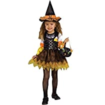 Rubies Costumes 185410 Candy Corn Witch Toddler Costume