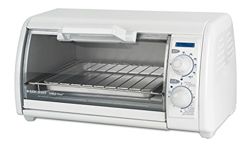 Black & Decker 4- Slice White Toaster Oven for Toasting, Baking, Broiling and Reheating (White Black And Decker Toaster compare prices)