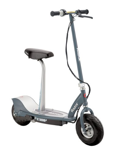 Razor E300S Seated Electric Scooter (Matte Gray, 41 x 17 x 42-Inch)