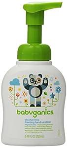 Babyganics Alcohol-Free Foaming Hand Sanitizer, Fragrance Free, 8.45oz Pump Bottle (Pack of 2)