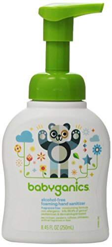 Babyganics-Alcohol-Free-Foaming-Hand-Sanitizer-Fragrance-Free-845-Fluid-Ounce-Bottles-Packaging-May-Vary