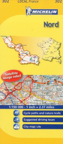 Michelin Map France: Nord 302 (1:150K) (Maps/Local (Michelin)) (English and French Edition)