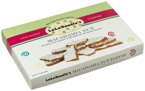 Buy LaLaBoodle's Macadamia Nut Toffee with White Chocolate and Coconut, 16-Ounce Boxes (Pack of 2) (LaLaBoodle's, Health & Personal Care, Products, Food & Snacks, Snacks Cookies & Candy, Candy, Toffee)
