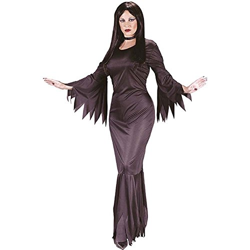 Great Group Halloween Costumes: The Addams Family - Morticia Black One Size Costume