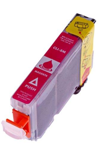 Druckerpatrone für Canon CLI 8 , CLI-8 , CLI8 mit Chip Canon Pixma IP4500 canon IP5200 canon IP5200R canon IP5300 (Magenta/Rot)