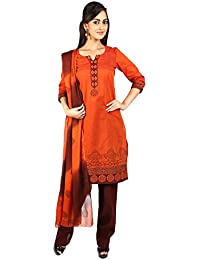 U Fashion Women's Handloom Cotton Straight Salwar Suit
