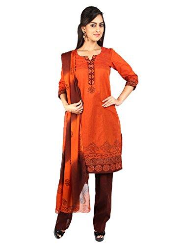 U Fashion Women's Handloom Cotton Straight Salwar Suit