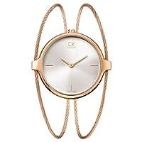 Calvin Klein ck agile K2Z2M616 - Reloj analógico de cuarzo para mujer, correa de acero inoxidable chapado color dorado de Calvin Klein