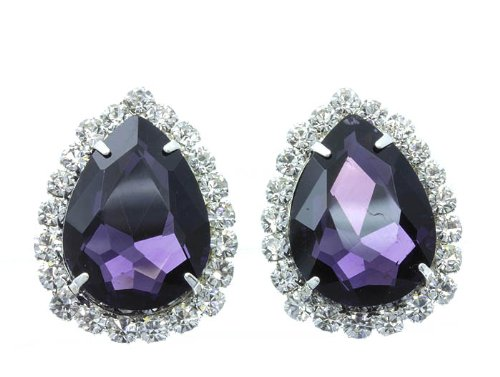 EARRING CLIP ON METAL Amethyst Fashion Jewelry Costume Jewelry fashion accessory Beautiful Charms