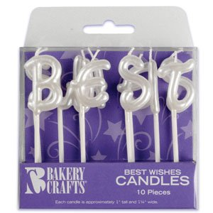 Oasis Supply Best Wish Letter Birthday Candles - 1