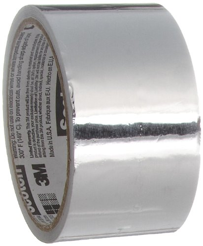 Scotch Aluminum Foil Tape 3311 Silver, 2 in x 10 yd 3.6 mil
