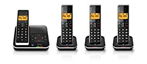 BT Xenon 1500 Cordless Telephone with Answer Machine (Pack of 4)