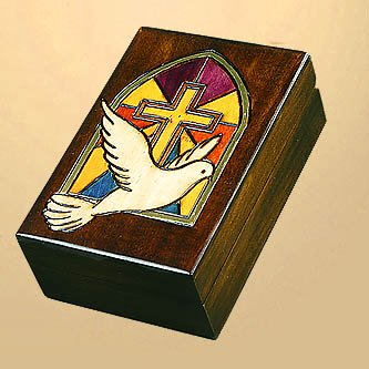 Stained Glass Cross with Dove