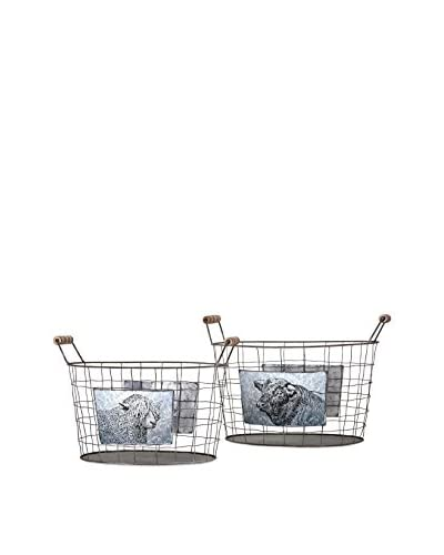 2-Piece Ella Elaine Farm Basket Set As You See