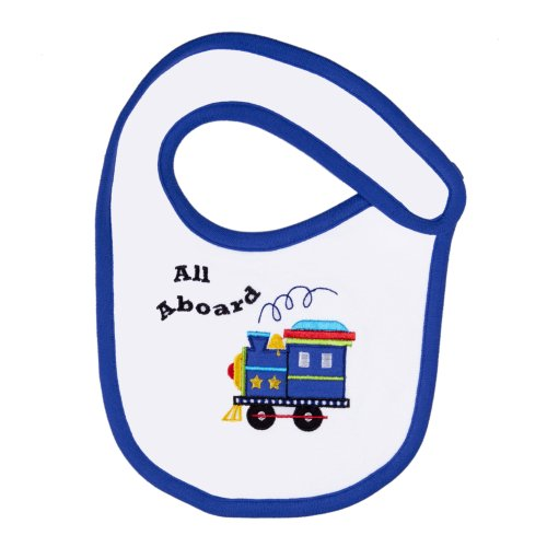 Funkoos Trains Organic Cotton Bib for Newborn Baby Infant Boy - 1