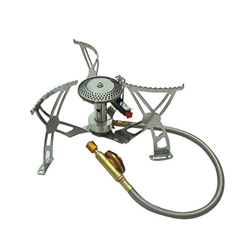 Bestbuygoods Sports Hiking Camping Picnic Cookout Ultralight Portable Gas Stove Furnace Split Type Gas Burner Cookware Bbg15S127-2