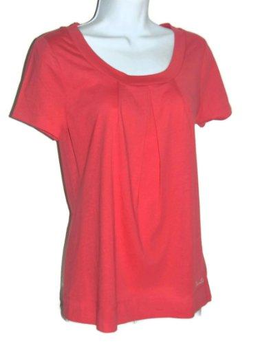 Nautica Sleepwear Women's Pleated Scoop Neck Cotton Short Sleeve Sleep T
