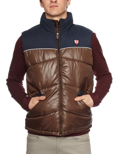 Puffa Toastie 2 Men's Gilet Brown/Navy Small