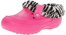 crocs 16014 Blitzen II Animal Prt Clog (Toddler/Little Kid),Candy Pink/Black,1 M US Little Kid