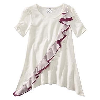 Product Image DSigned Shake It Up Girls' Ruffled Tunic - Cream