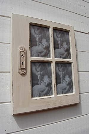 Vintage wooden window picture frame shabby chic style best for Best price wood windows