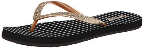 Reef Women's Stargazer Prints Sandal,Black Gold Stripes,8 M US