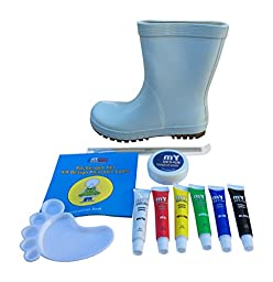 Kids Paintable Rain Boots Shoes Create Your Own Design (10 M US Toddler)