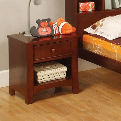 Miles 1 Drawer Nightstand Finish: Cherry front-168685