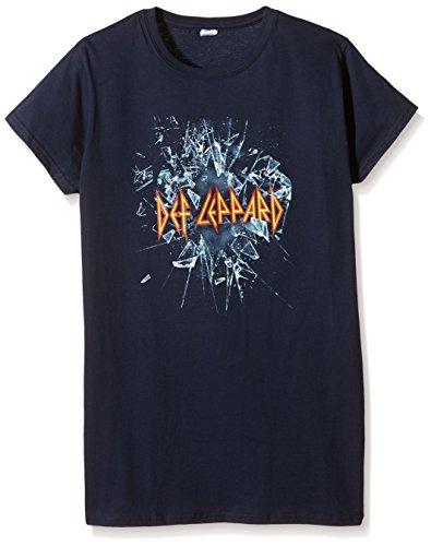 Plastic Head - Def Leppard Def Leppard Gts, T-shirt Donna, Blu, Large