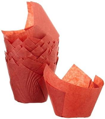 Regency Tulip Baking Cups, Red, standard, 24 count
