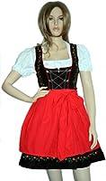 3 Pieces Mini-Dirndl Set, Bavarian dress oktoberfest Red