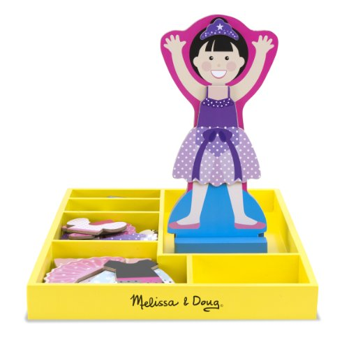 Melissa & Doug Ballerina Leah - Magnetic Dress Up - 1