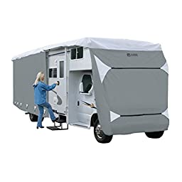 Classic Accessories OverDrive PolyPRO 3 Deluxe Class C RV Cover, Fits 29\' - 32\' RVs - Max Weather Protection with 3-Ply Poly Fabric Roof RV Cover (79563)