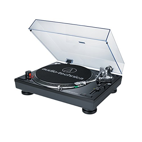 Audio Technica AT-LP120BK-USB Direct-Drive Professional Turntable (USB & Analog), Black (Direct Drive Turntable compare prices)