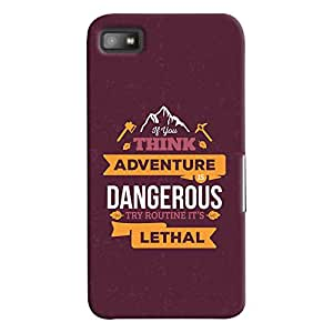 ColourCrust Blackberry Z1O Mobile Phone Back Cover With Motivational Quote - Durable Matte Finish Hard Plastic Slim Case