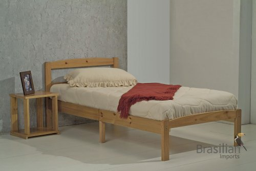 Verona Design Antique Pine Finish Bed in a Box Bed 3'0