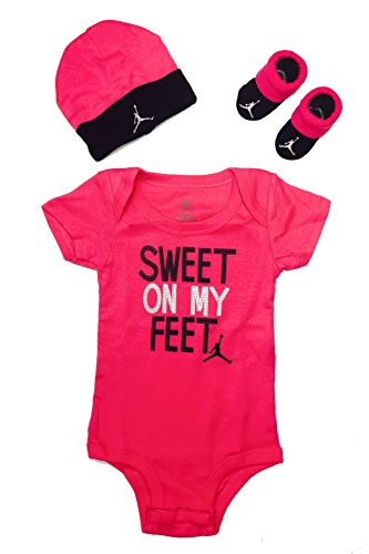 Jordan Baby Clothes 3 Piece Set Sweet on My Feet Set (0-6 Months)
