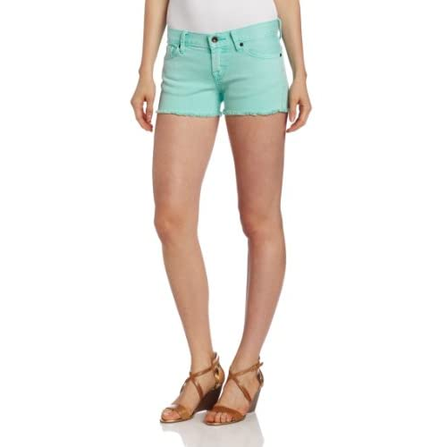 Lucky Brand Women's Riley Short With Pigment Dye, Waterfall, 32