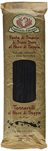 Rustichella d'Abruzzo Durum Wheat Squid Ink Tonnarelli Pasta - 17.6 oz (2 Pack) (Black Ink Spaghetti compare prices)