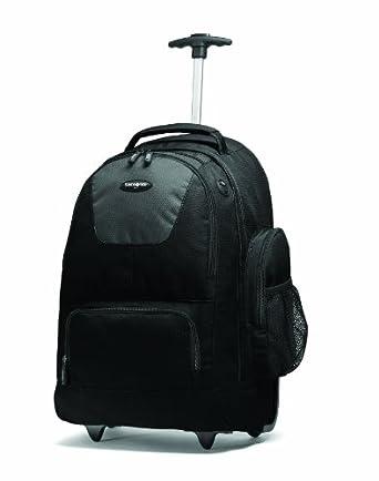(历史最低)新秀丽Samsonite 拉杆背包 Wheeled Backpack $43.99 蓝黑