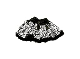 Boutique Cutie TM Girls Zebra Print Pettiskirt, Black/White, Large