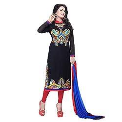 Fashion Ritmo Black Georgette Salwar Suits