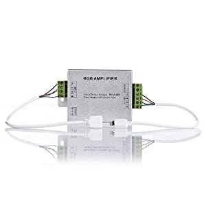 TaoTronics Data Repeater RGB Amplifier For RGB LED Strips with 2 Free Connectors, 12 Volt, 3304