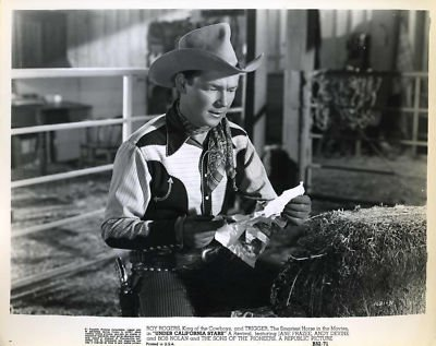 Under California Stars Movie Still With Roy Rogers