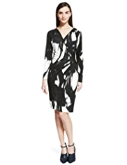 Autograph Abstract Print Wrap Dress