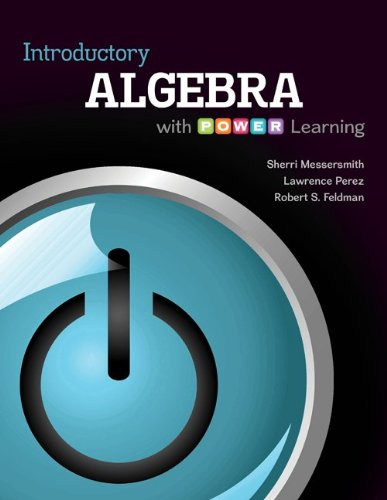 Introductory Algebra with P.O.W.E.R. Learning with ALEKS  18 Week Access Card