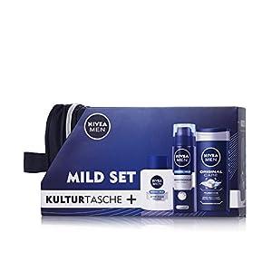 Nivea Men Geschenkset mild + gratis Kulturtasche, 1er Pack (1 x 1 Stück)