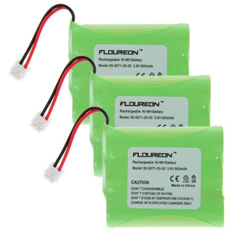 Floureon 3 Packs Rechargeable Cordless Phone Battery For Vtech Ia5823, Ia5845, Ia5876, Ia5877 Cordless Telephone Battery Replacement Pack